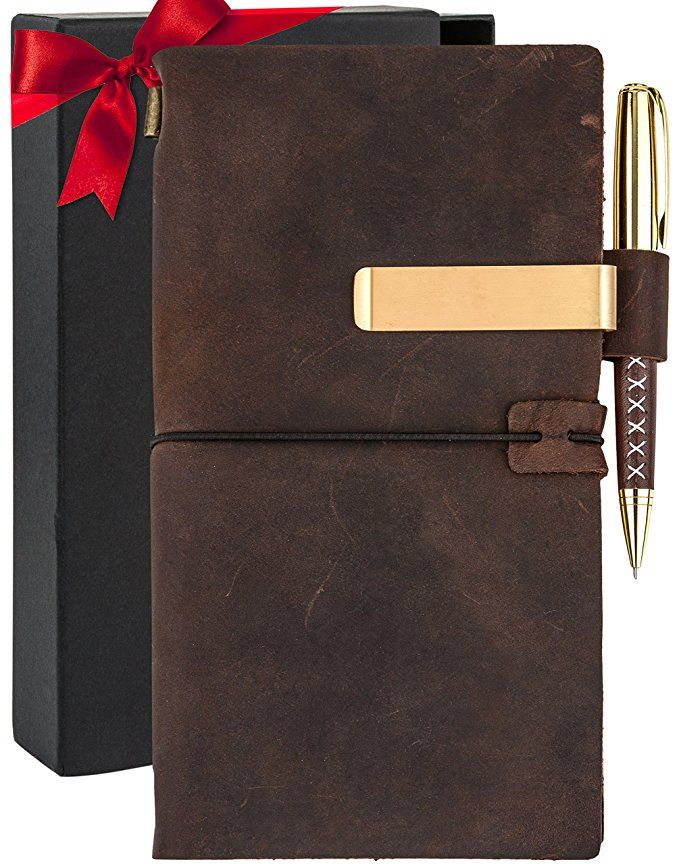 4a8d53d256c5 Affiliate] Leather Journal For Mens Womens - Genuine Brown Travelers ...
