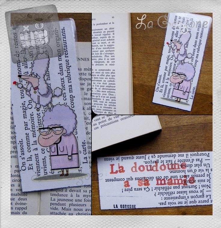 La doudoune à sa Mamie! Marque page plastifié unique et fait main par la Gorgone. : Marque-pages par la-gorgone