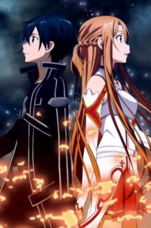 sword art online iphone wallpaper kirito and asuna