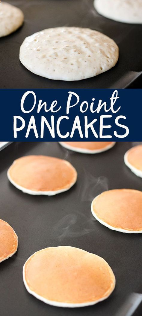 Yummy 1 One Point Pancakes -- Weight Watchers Recipe.