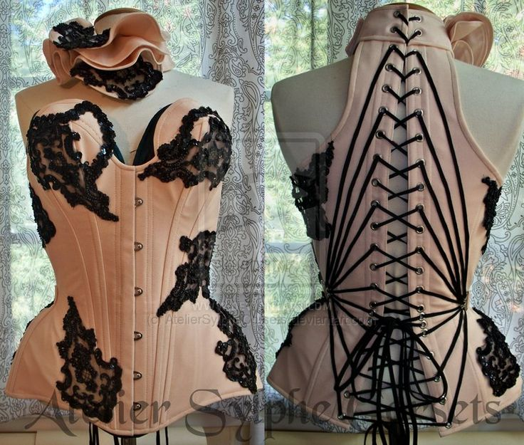 net beaded corset.. with AMAZING collar detail!