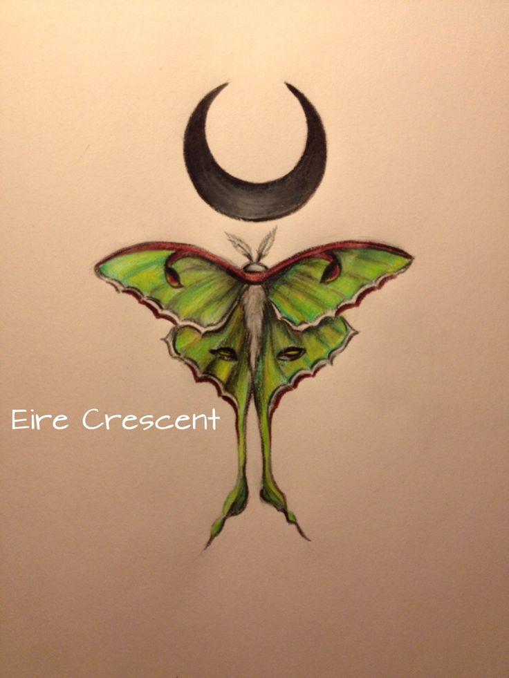 Gallery For gt Tribal Luna Moth Tattoo