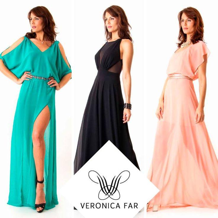 #Tendencia2015 #VeroFar ¿Cuál de estos 3 diseños te gusta más?Vestido Monot - Vestido Cobalto - Vestido Bellini LookBook → www.veronicafar.com.ar/lookbook/