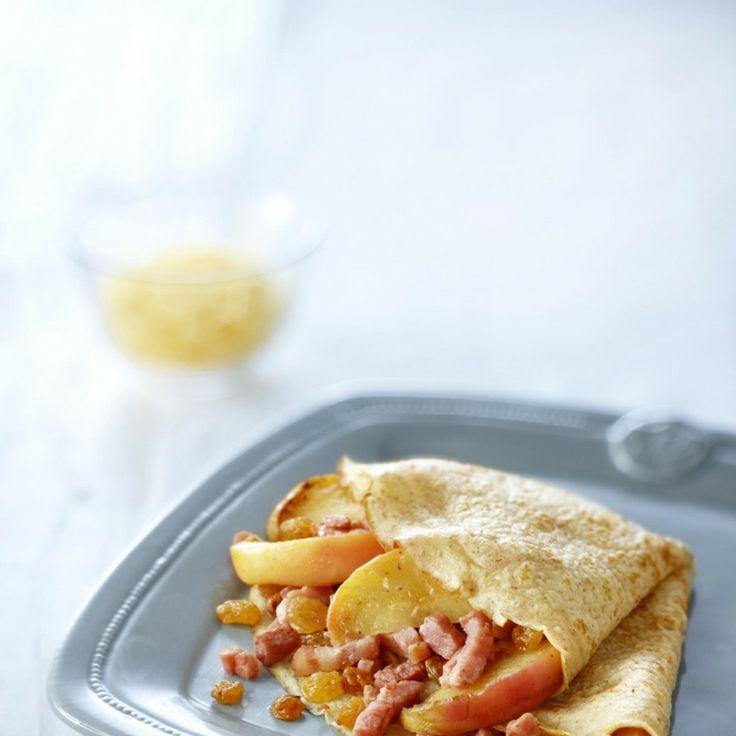 Pannenkoek gevuld met spek en appel - Boodschappen - met Elstar OER-fruit