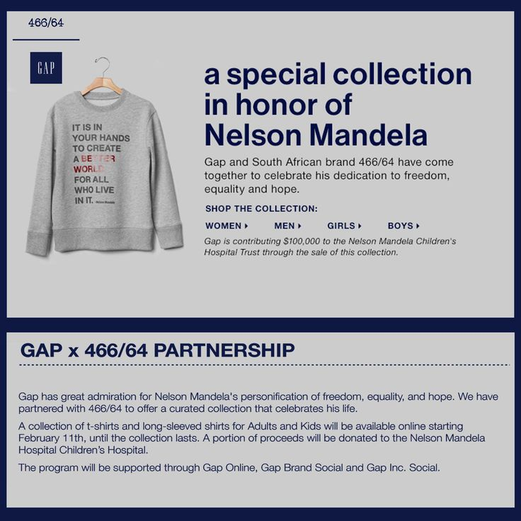 We're excited announce our partnership with Gap USA offering 466/64 Tees & Sweats online. #GAPX46664 #LivingTheLegacy