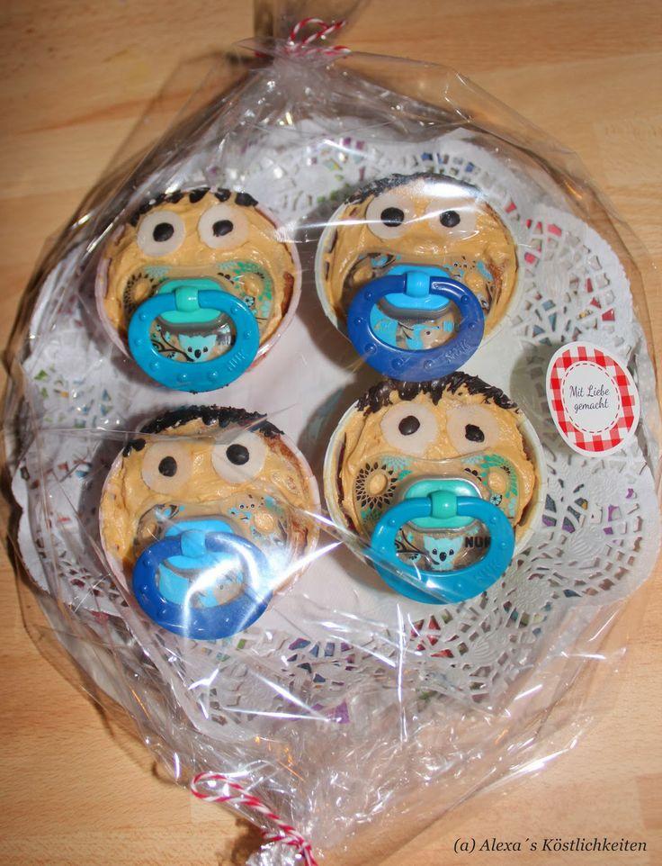 Alexa´s Köstlichkeiten: Baby-Schnuller Cupcakes