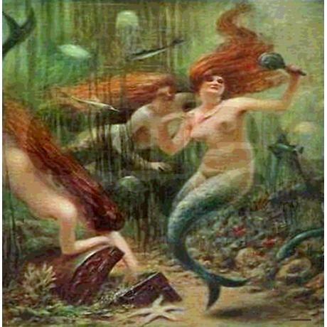 Vintage Mermaid Treasure Chest Shower Curtain Mermaid Bathroom Decor Bathrooms Decor And Mermaids