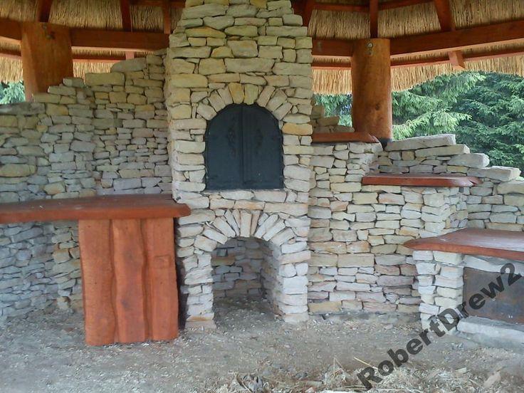 Grill Murowany Wędzarnia Kominek Kamień