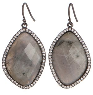 Marcia Moran labradorite drop earrings #grey #fashion #trends