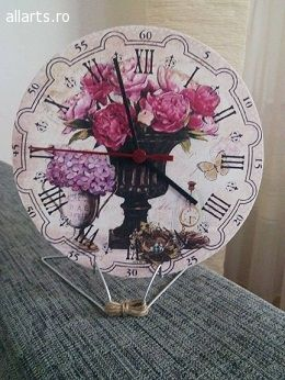 Design Obiecte decorative Ceas de masa sau de perete lucrat manual