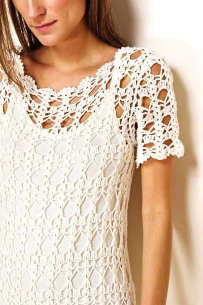 CROCHET FASHION TRENDS exclusive white long by LecrochetArt