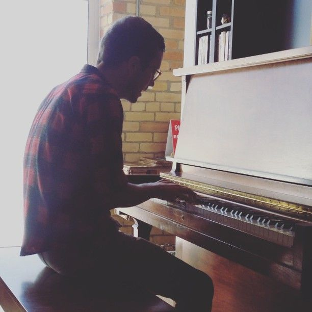 Mr. Wayne Petti taking our new piano for a spin