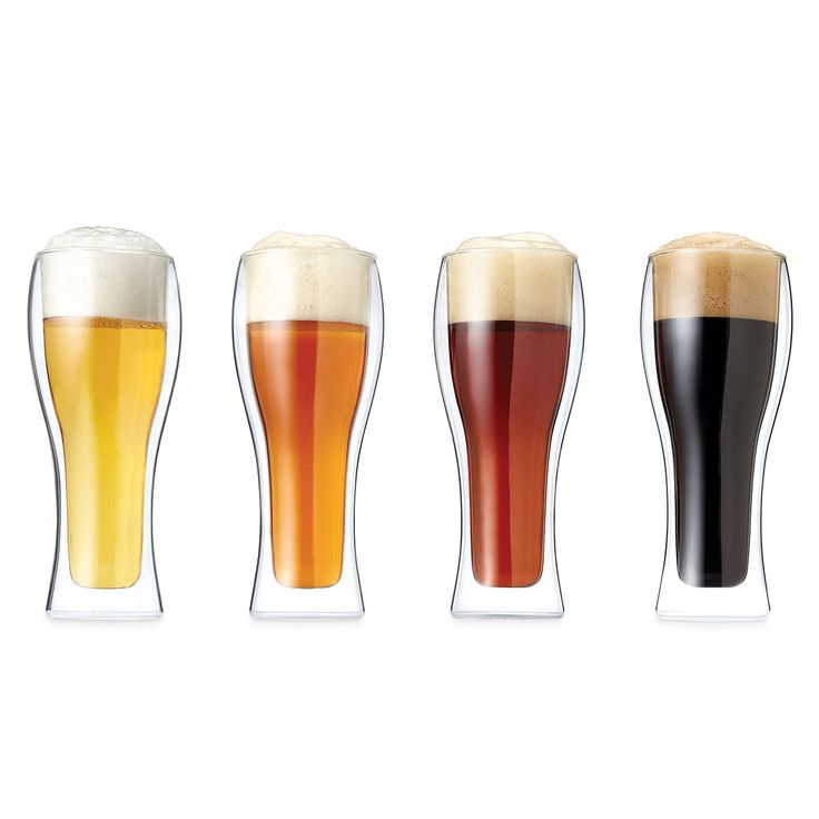 ILLUSION PILSNERS - SET OF 4 | Ghost, Glass, Fun Beer Glasses, Modern Beer Glasses | UncommonGoods