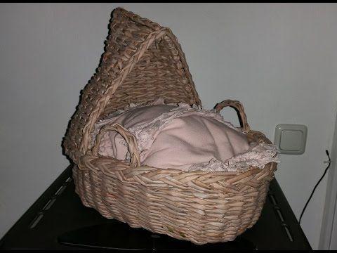 Baby Tragekorb aus gefärbten Papier Röllchen