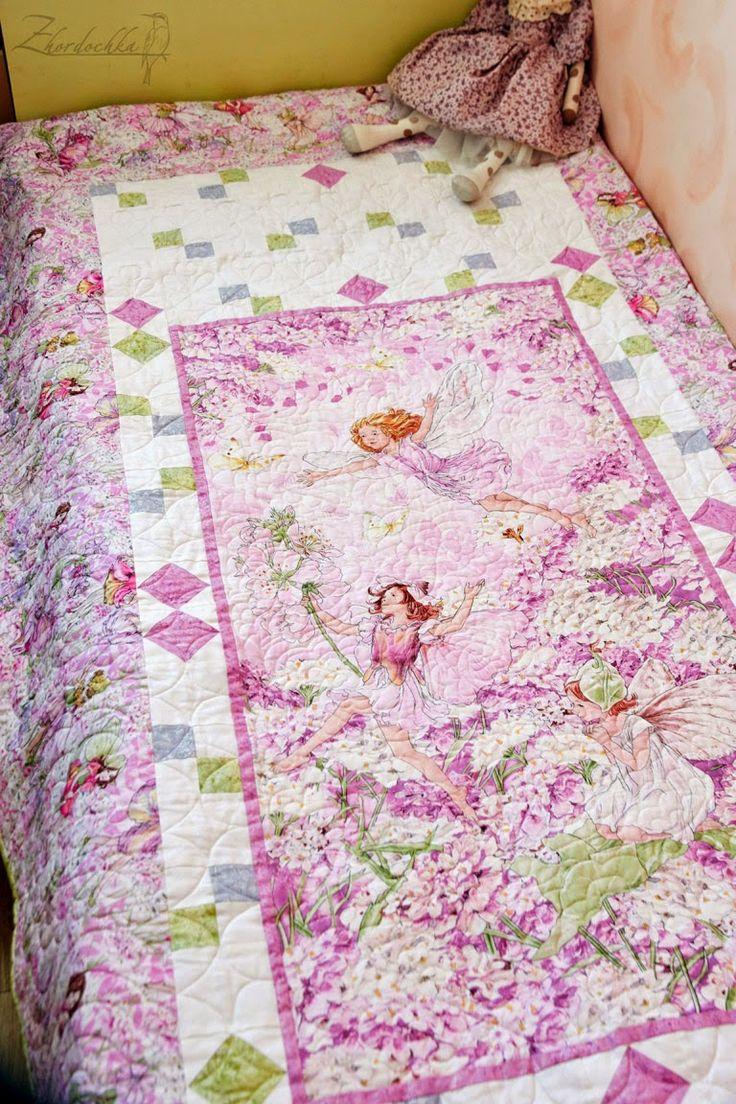 """На жёрдочке: Лоскутное покрывало """"Цветочные феи"""" / """"Flower fairies"""" quilt"""