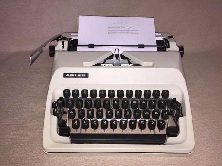 Mechanische Schreibmaschine Adler Gabriele 10 mit kyrillischer Tastatur russisch