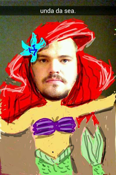 funny snapchat ariel little mermaid