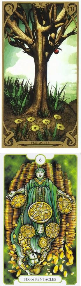 Six of Pentacles: sharing and selfish (reverse). Night Sun Tarot deck and Revelations Tarot deck: the ultimate guide totarot, free tarot card reading vs tarotgimbal. The best guessing games for adults and oracles. #backtonature #tarotspread #gothwitch #pumpkin #theworld