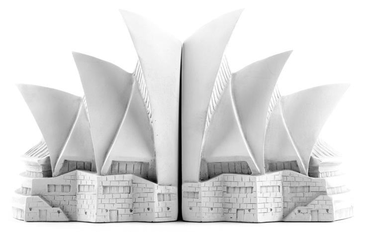 Opera House Bookends - Historical Wonders Colleciton by Matt Blatt   #repurposed
