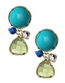 Pop stone drop earrings via REVEL