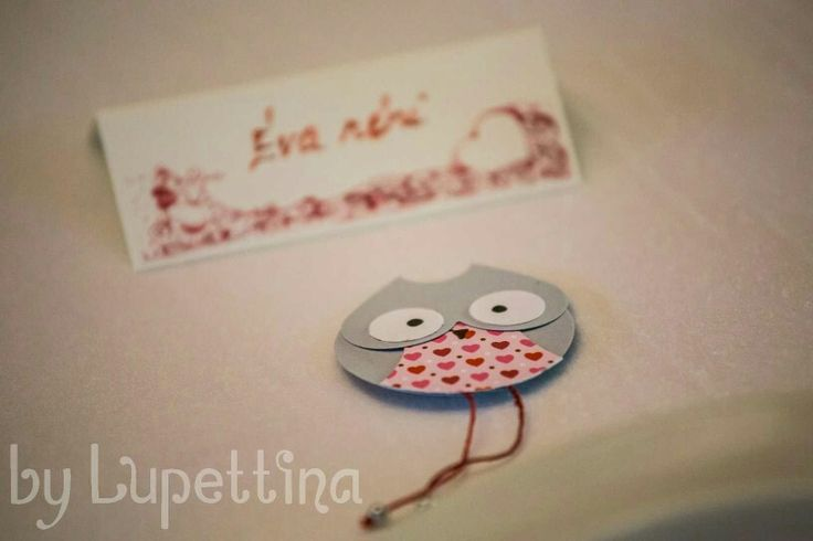 Wedding favor - owl fridge magnet by Lupettina