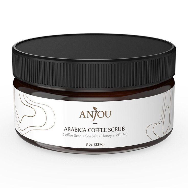 Anjou Arabica Coffee Scrub with Honey, Sea Salt, Jojoba Oil (For Face and... #Anjou