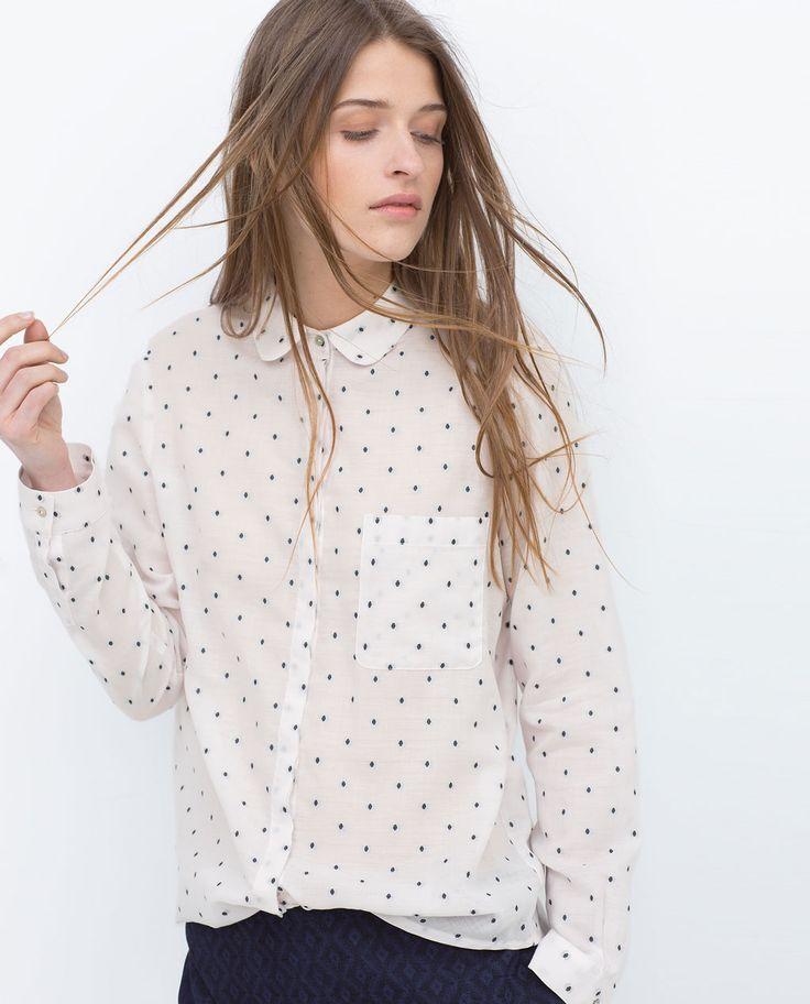 les 25 meilleures id es concernant chemisier pois sur pinterest cardigan pois veste. Black Bedroom Furniture Sets. Home Design Ideas