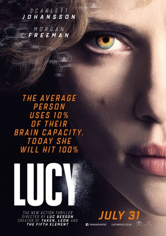 I saw Luc Besson's Lucy this weekend. The plot hinges on Lucy recieving an overdose of CPh4, a drug (natural product found in pregnancy at week 6) that accelerates brain activation.