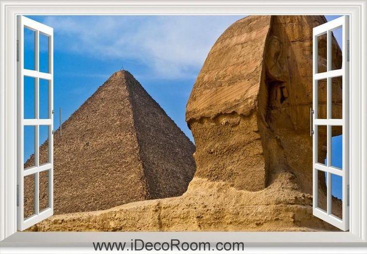 3D Pyramid Egypt Sphinx window wall sticker art decal IDCCH-LS-001343