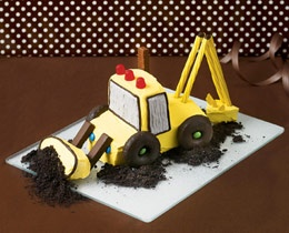 I made this cake for my son's 3rd B-day. It was surprisingly easy; I highly recommend it for any little builder!