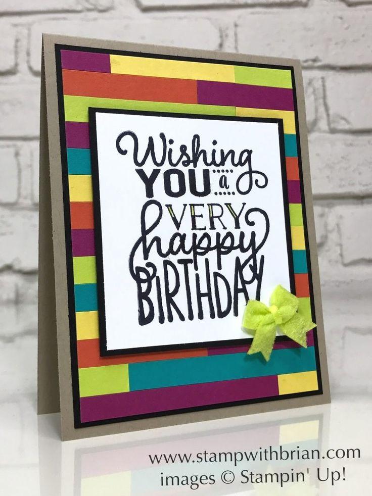 Big on Birthdays, Stampin' Up!, Brian King, FabFri116
