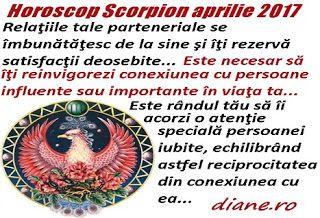 Horoscop aprilie 2017 Scorpion