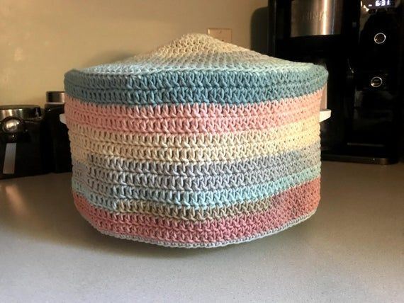 Crockpot Cover Crochet Pattern Slow Cooker Cover Small Etsy In 2020 Crochet Patterns Crochet Small Kitchen Appliance Covers