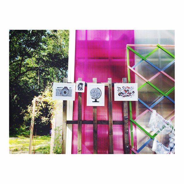 My artprints, market at Cyklopen ● Virki illustration (Vira Kiktso) instagram: @artbyvirki #virki #virkiillustration #illustration #artprints #pink #art #market #cyklopen #högdalen