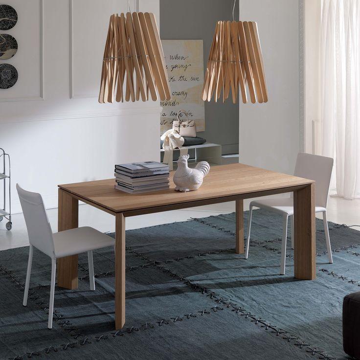 Tavolo allungabile in legno di rovere Milanodue di Ozzio Design
