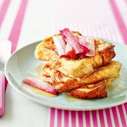 Rhubarb French Toast.