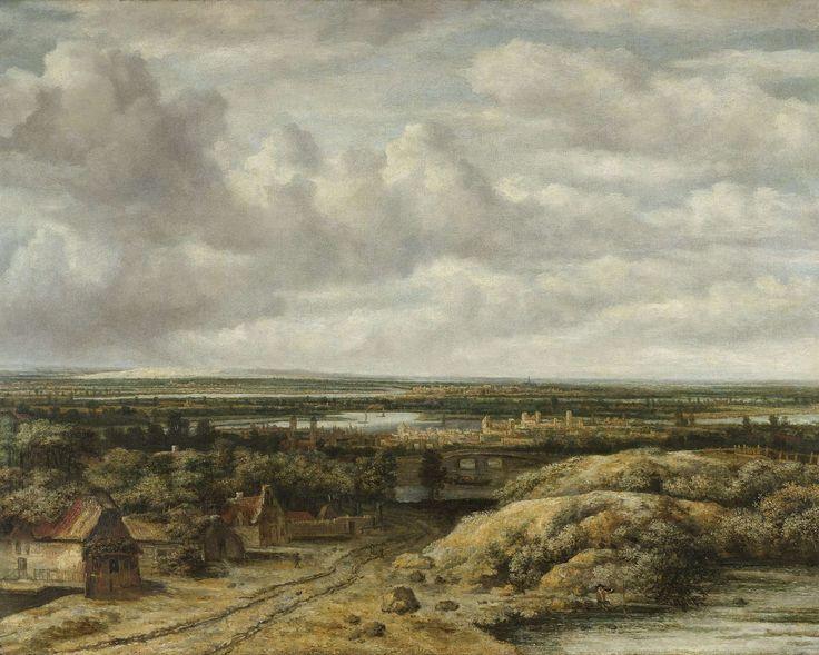 There must be a book in there someplace... Vergezicht met hutten aan een weg, Philips Koninck, 1655
