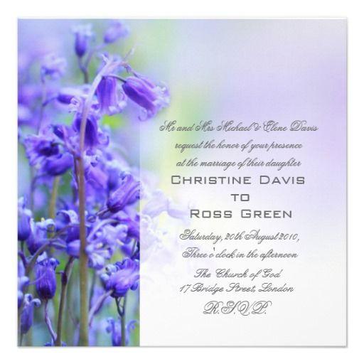 Pretty bluebells wedding invitation
