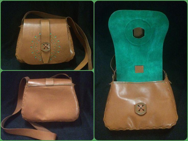 """Сумка """" Колесо Фортуны"""" leather bag handmade"""