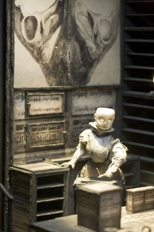"""Morbid Anatomy: """"Dormitorium: Film Decors by the Quay Brothers,"""" Exhibition,"""" Parsons, NYC from 2009"""