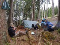 Biwaktour Wildnistraining Wildniswanderung Allgäu