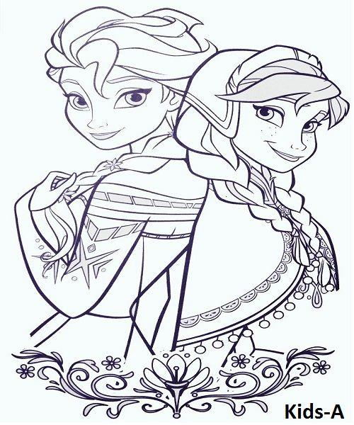 Elsa Ausmalbilder Disney prinzessin malvorlagen