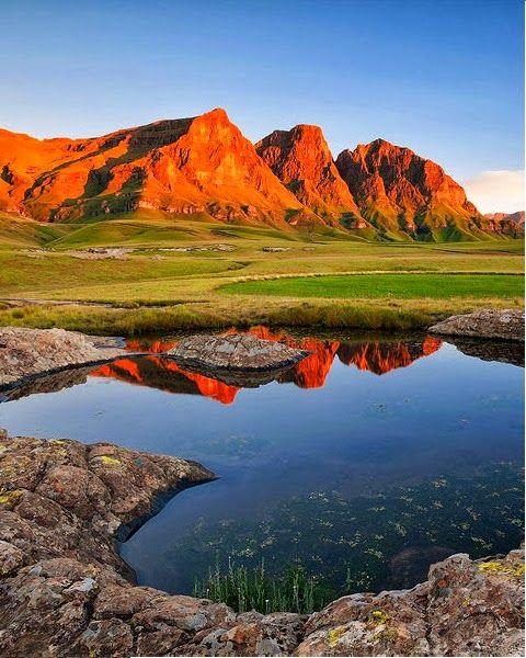 Sehlabathebe National Park, Maloti Mountains in Qacha's Nek District, Lesotho