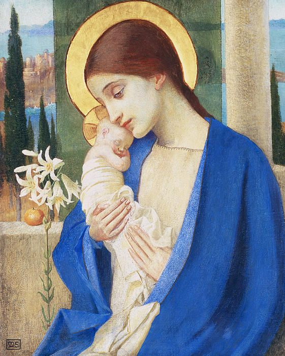 Madonna and Child...so precious and beautiful, our sweet little Savior <3  by Marianne Stokes, prior to 1907