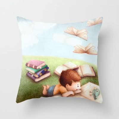 Magical Books #2 Throw Pillow by Alexandria Gold - $20.00