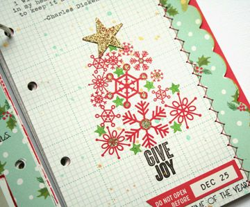 OA Very Merry December Mini-Book Kit Inpsiration - tree