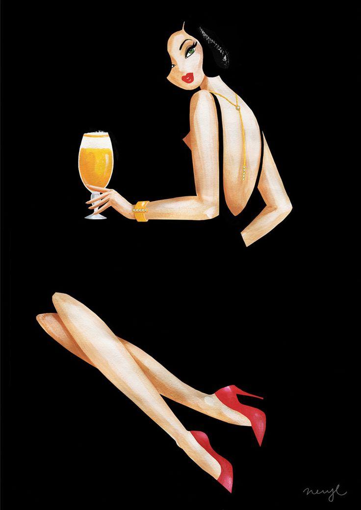 Poster for European beer brand by Neryl Walker.