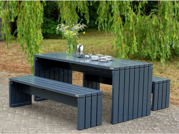 25 best ideas about gartentisch holz on pinterest outdoor tisch tischbank and tisch bauen. Black Bedroom Furniture Sets. Home Design Ideas