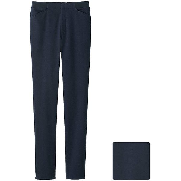 UNIQLO HEATTECH High Rise Leggings Trousers (42 AUD) ❤ liked on Polyvore featuring pants, leggings, white high waisted pants, high rise pants, ribbed leggings, uniqlo and high waisted leggings