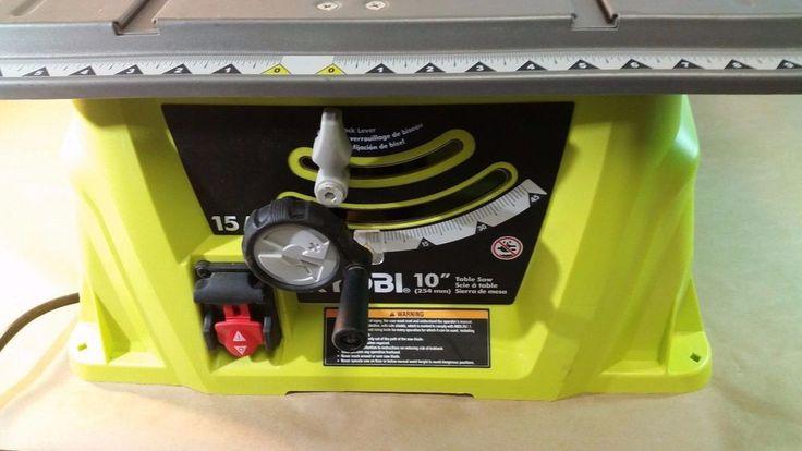 "Ryobi RTS10G 120V/15 AMP 10"" table saw, Tools, Home, Repair 01242017.64 #Ryobi"
